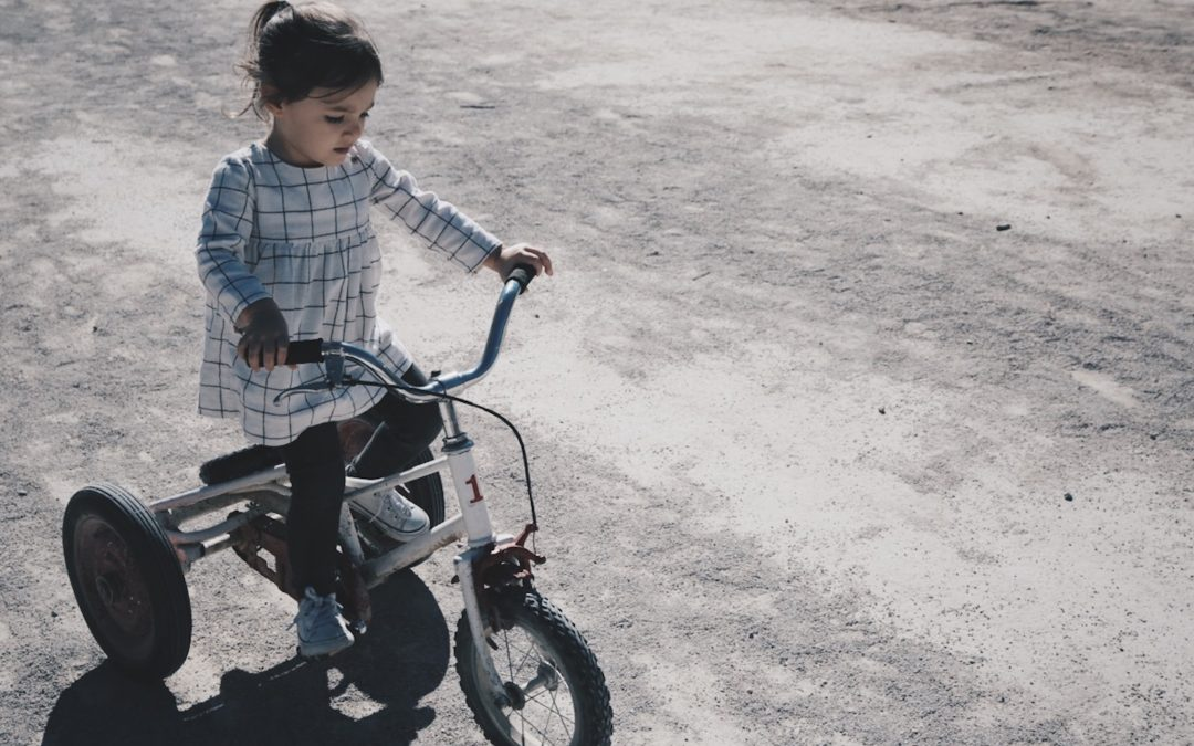 Cykla med barnvagn